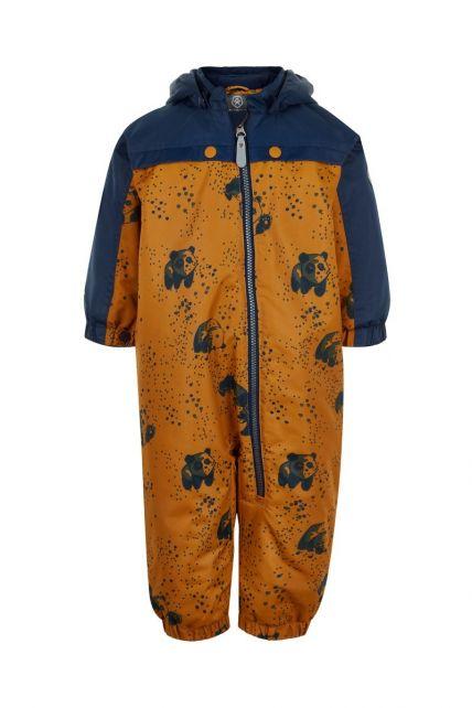 Color-Kids---Overall-Schneeanzug-für-Babys---Panda-Dots---Honig