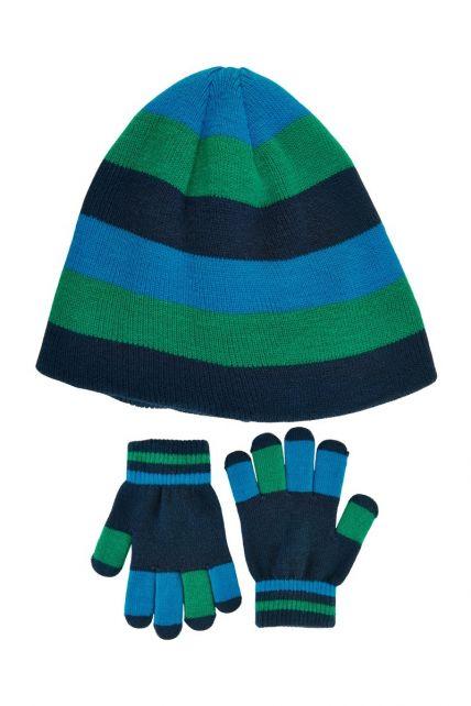 Color-Kids---Beanie--und-Handschuhset-für-Jungen---Hellblau