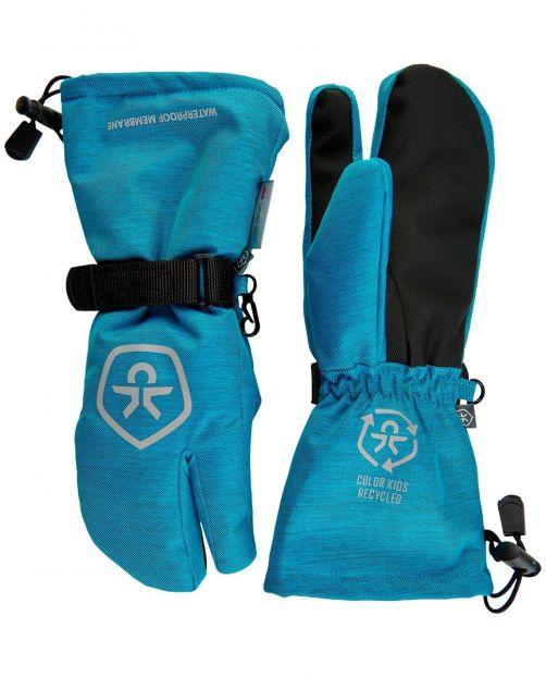 Color-Kids---Wasserdichte-Skihandschuhe-für-Kinder--Twill---Hellblau