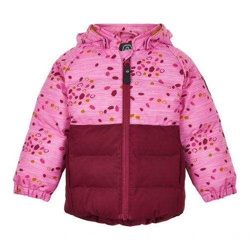 Color-Kids---Softshell-Jacke-für-Baby-Mädchen---Dots---Rübenrot