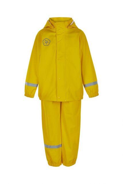 Color-Kids---Regenanzug-aus-recyceltem-Material-für-Kinder---Uni---Gelb