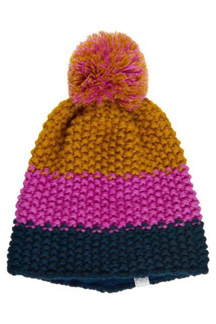 Color-Kids---Mütze-für-Kinder---Streifen---Rosa-Violett