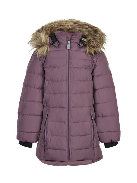 Color-Kids---Winterjacke-für-Mädchen---Gesteppt---Uni---Arctic-Dusk