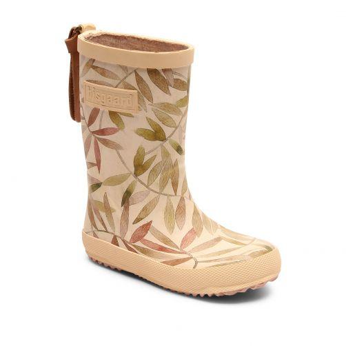 Bisgaard---Regenstiefel-für-Kinder---Fashion---Beige-Blätter