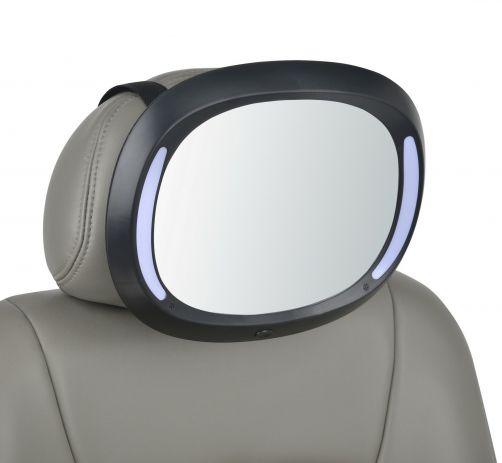 Altabebe---Luxuriöser-LED-Baby-Autospiegel---Schwarz