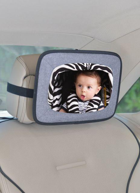 Altabebe---Baby-Rücksitz-Autospiegel---Grau