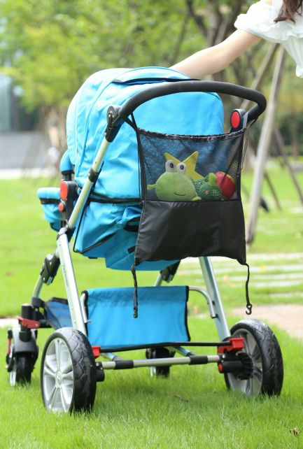 Altabebe---Universal-Netztasche-für-Kinderwagen-oder-Autositz---Schwarz