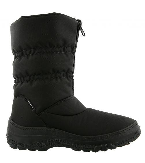 Antarctica---Schneestiefel-mit-Reißverschluss-für-Mädchen-und-Damen---AN-665---Schwarz