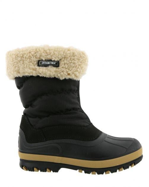 Antarctica---Schneestiefel-mit-Reißverschluss-für-Kinder---AN-1220---Schwarz