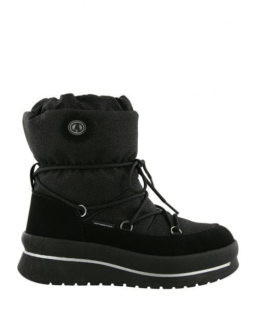 Antarctica---Schneestiefel-mit-Schnürverschluss-für-Frauen---AN-8666---Schwarz