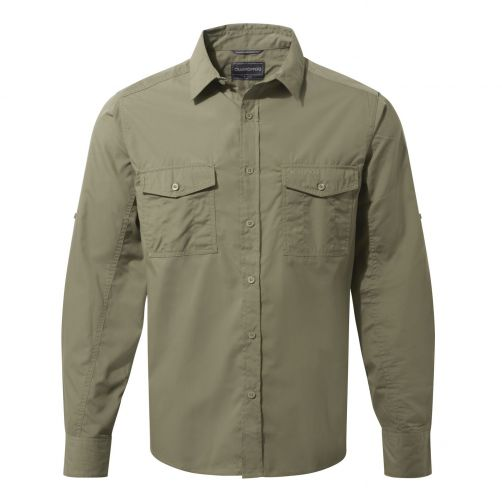Craghoppers---UV-Hemd-für-Herren---Langarmshirt---Kiwi---Moosgrün