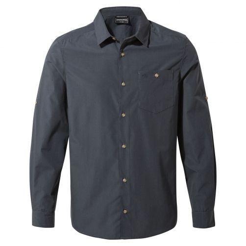 Craghoppers---UV-Hemd-für-Herren---Langarmshirt---Kiwi-Ridge---Stahlblau