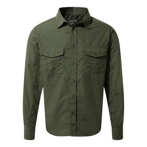 Craghoppers---UV-Hemd-für-Herren---Langarmshirt---Kiwi---Dunkelgrün