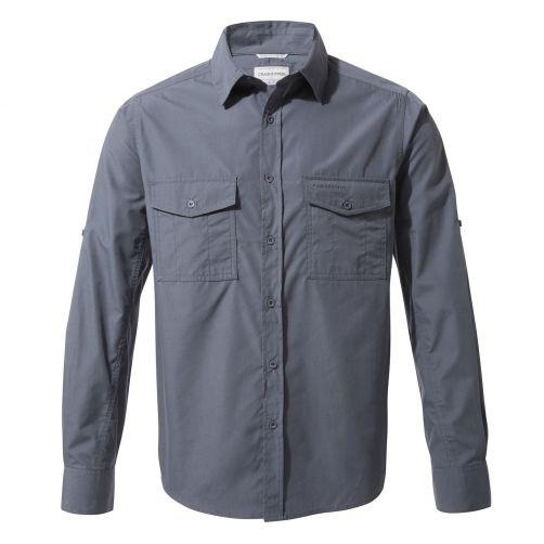 Craghoppers---UV-Hemd-für-Herren---Langarmshirt---Kiwi---Blaugrau