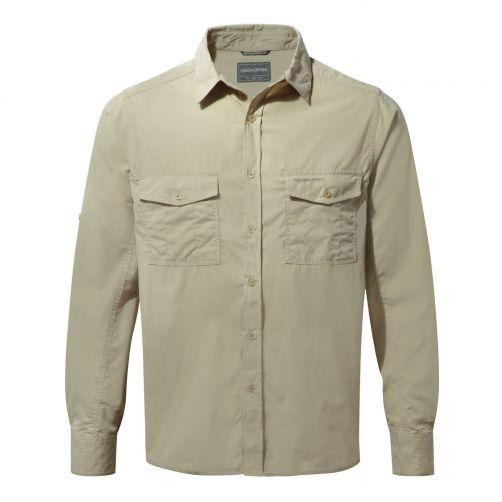 Craghoppers---UV-Hemd-für-Herren---Langarmshirt---Kiwi---Beige