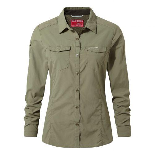 Craghoppers---UV-Bluse-für-Damen---Langarmshirt---Adventure-II---Moosgrün