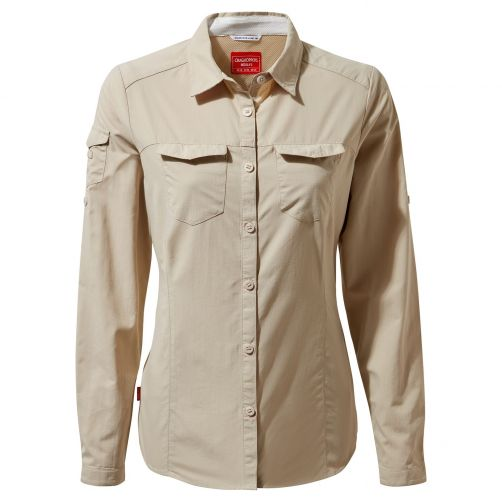 Craghoppers---UV-Bluse-für-Damen---Langarmshirt---Adventure-II---Sand