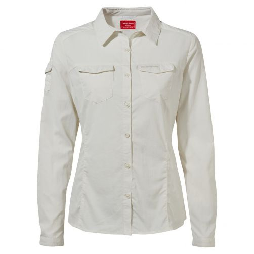 Craghoppers---Bluse-für-Damen---Langarmshirt---Adventure-II---Offwhite