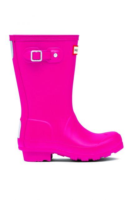 Hunter---Regenstiefel-für-Mädchen---Original-Kids-Wellington---Helles-Pink