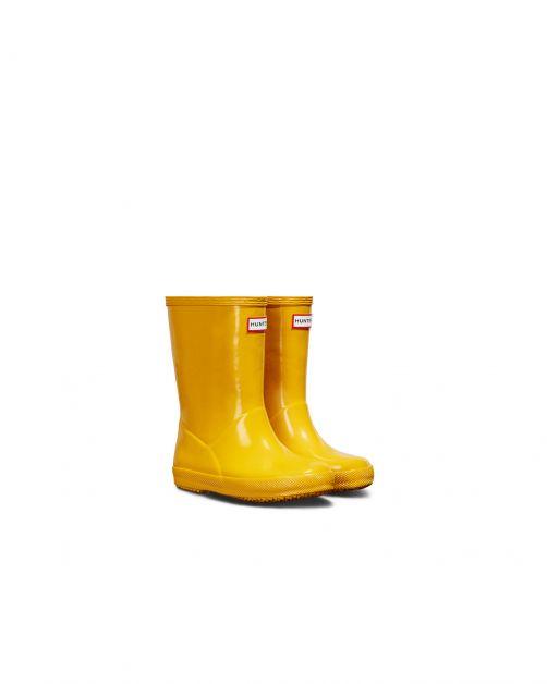 Hunter---Regenstiefel-für-Kinder---Kids-First-Classic-Gloss---Gelb