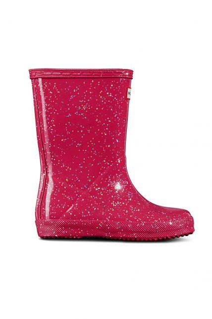 Hunter---Regenstiefel-für-Mädchen---Original-Kids-First-Classic-Glitter---Rosa