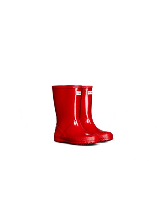 Hunter---Regenstiefel-für-Kinder---Kids-First-Classic-Gloss---Rot