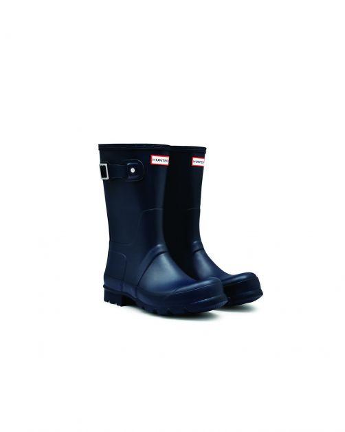Hunter---Regenstiefel-für-Herren---Original-Short---Marineblau