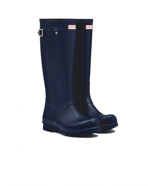 Hunter---Regenstiefel-für-Herren---Original-Tall-Wellington---Marineblau