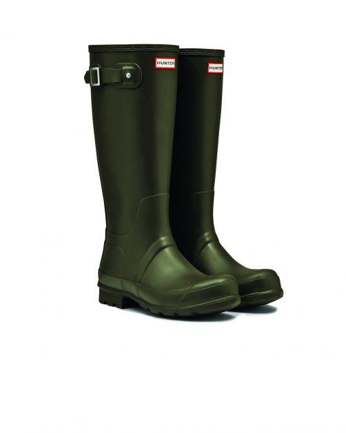 Hunter---Regenstiefel-für-Herren---Original-Tall-Wellington---Olivgrün