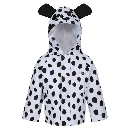 Regatta---Regenjacke-für-Kleinkinder---Tiere---Hund---Weiß/Schwarz