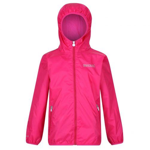 Regatta---Packaway-Regenjacke-für-Kinder---Lever-II---Herzogin-Pink