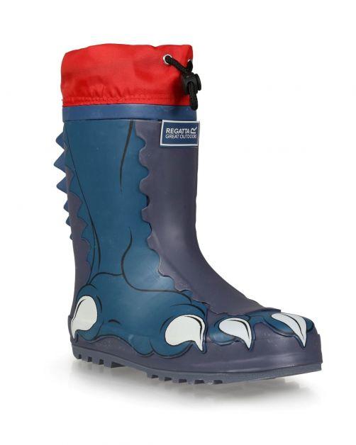 Regatta---Regenstiefel-für-Kinder---Mudplay---Dinosaurier---Blau