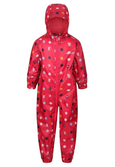 Regatta---Regenanzug-für-Kleinkinder---Peppa-Pobble---Bright-Blush