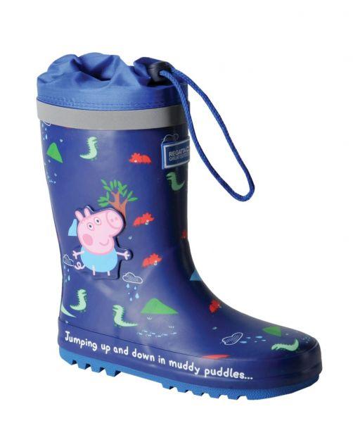 Regatta---Regenstiefel-für-Kinder---Peppa-Pig-Splash---Neu-Königsblau