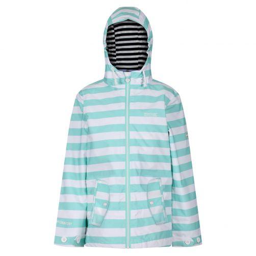 Regatta---Regenjacke-für-Mädchen---Bibiana---Aruba-Blau-gestreift