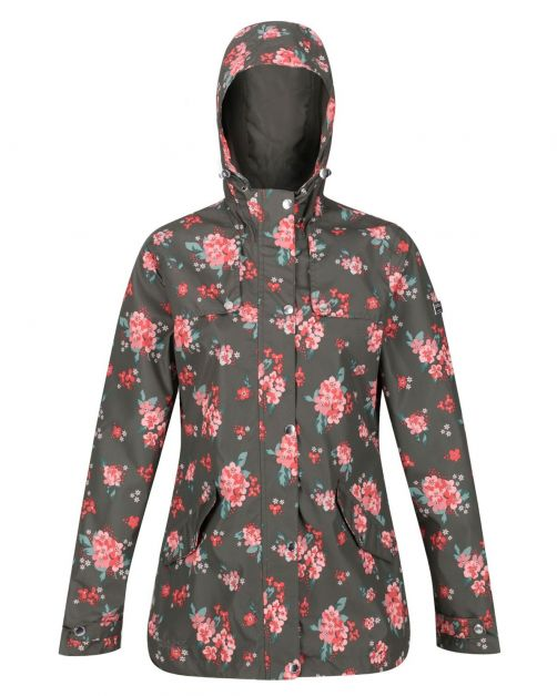 Regatta---Wasserdichte-Regenjacke-für-Damen---Bertille---Grape-Leaf-Floral