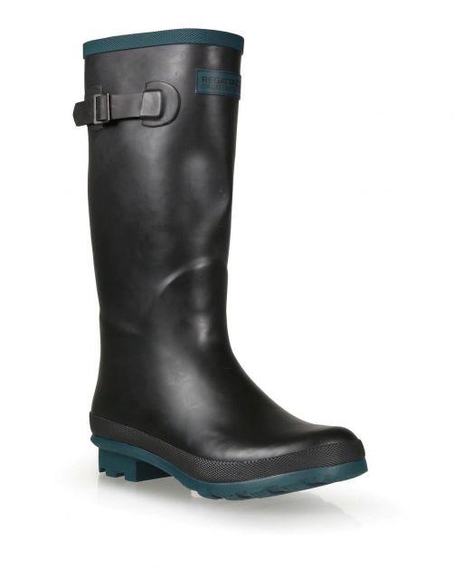 Regatta---Wellington-Regenstiefel-für-Damen---Ly-Fairweather-II---Schwarz/Teal