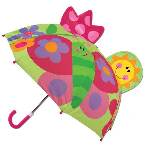 Stephen-Joseph---Pop-up-Regenschirm-für-Kinder---Schmetterling---Grün