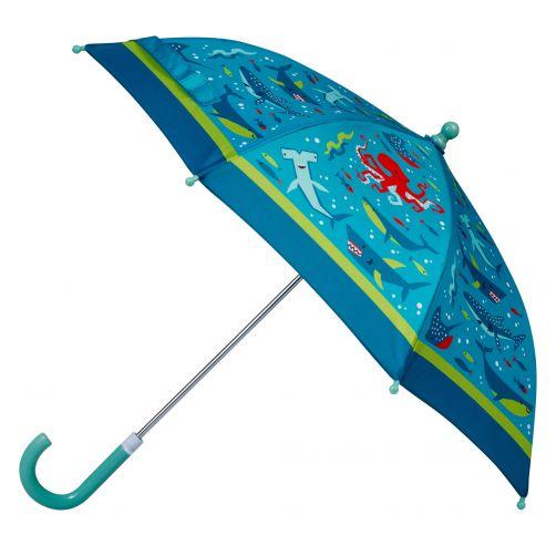 Stephen-Joseph---Regenschirm-für-Jungen---Hai---Hellblau/Dunkelblau