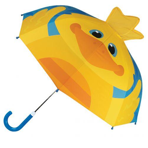 Stephen-Joseph---Pop-up-Regenschirm-für-Kinder---Ente---Blau
