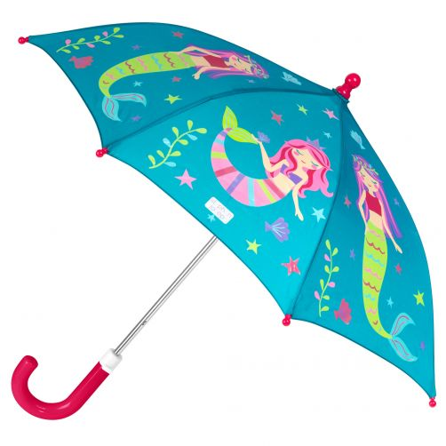 Stephen-Joseph---Farbwechselnder-Regenschirm-für-Mädchen---Meerjungfrau---Türkis