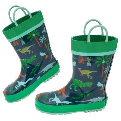Stephen-Joseph---Regenstiefel-für-Jungen---Dino---Dunkelblau/Grün