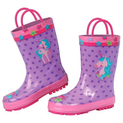 Stephen-Joseph---Regenstiefel-für-Mädchen---Einhorn---Lila/Rosa
