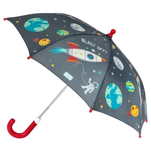 Stephen-Joseph---Farbwechselnder-Regenschirm-für-Jungen---Weltraum---Schwarz