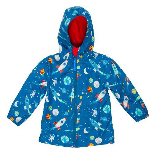Stephen-Joseph---Regenjacke-für-Jungen---Weltraum---Blau