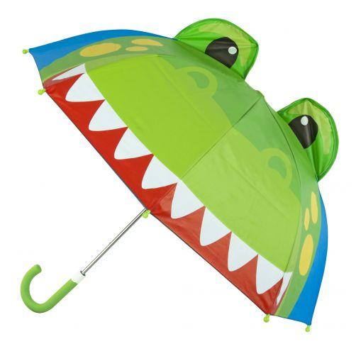 Stephen-Joseph---Pop-up-Regenschirm-für-Jungen---Dino---Blau