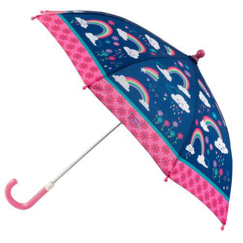Stephen-Joseph---Regenschirm-für-Mädchen---Regenbogen---Dunkelblau/Rosa