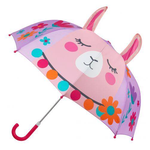 Stephen-Joseph---Pop-up-Regenschirm-für-Mädchen---Lama---Lila