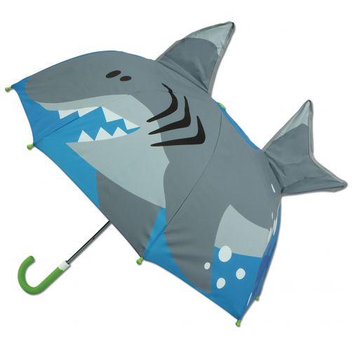 Stephen-Joseph---Pop-up-Regenschirm-für-Jungen---Hai---Blau