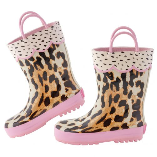 Stephen-Joseph---Regenstiefel-für-Mädchen---Leopard---Multi/Rosa